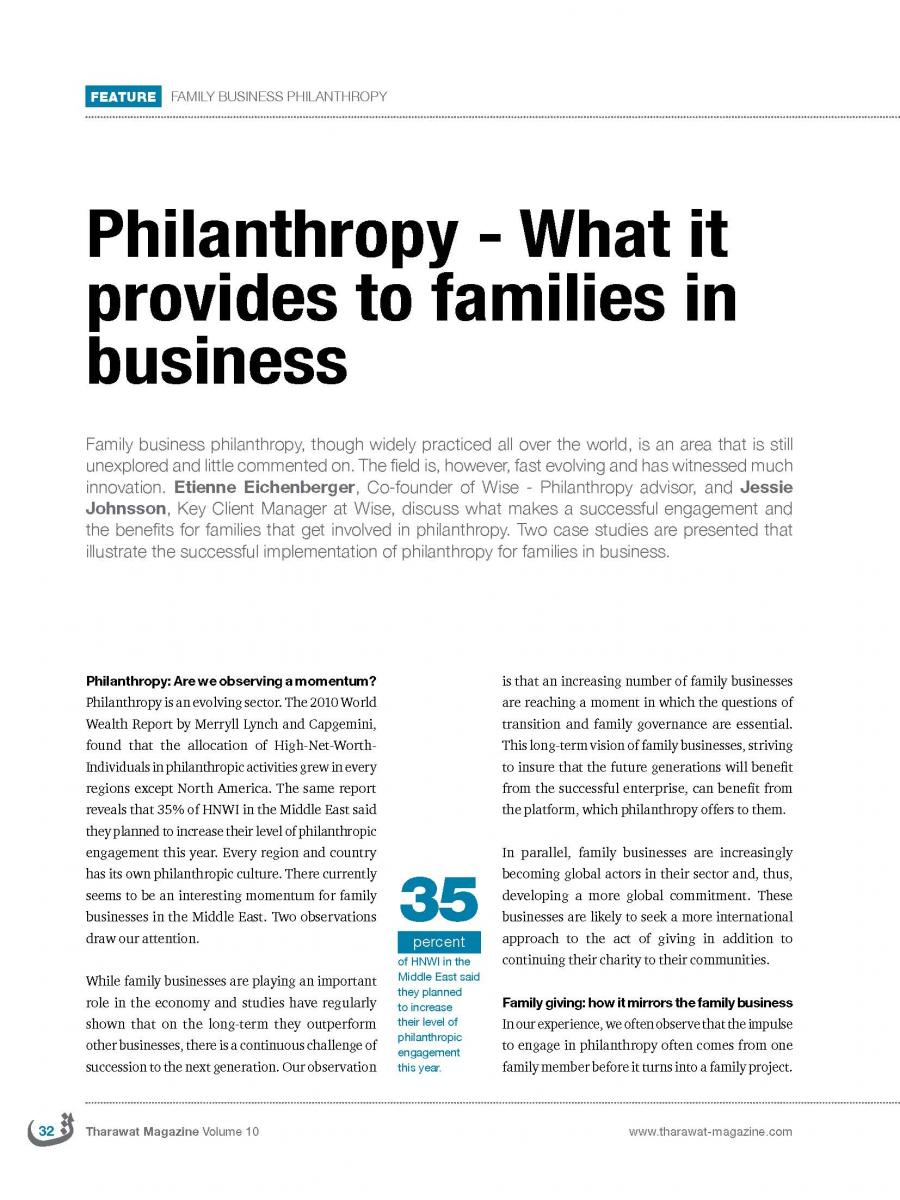 article about business When i hear businessmen speak eloquently about the social responsibilities of  business in a free-enterprise system, i am reminded of the.